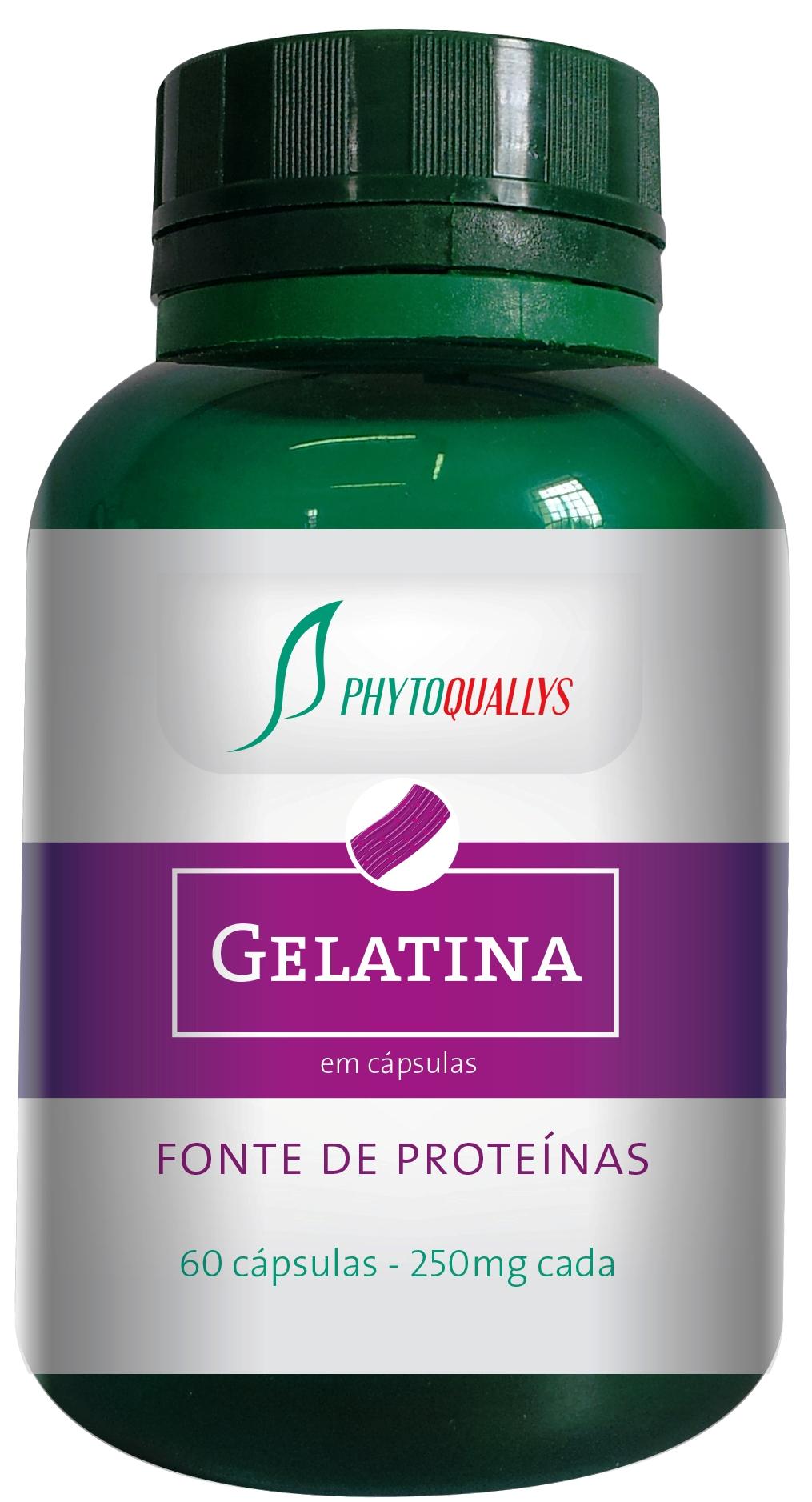 GELATINA PhytoQuallys - Frasco com 60 cápsulas