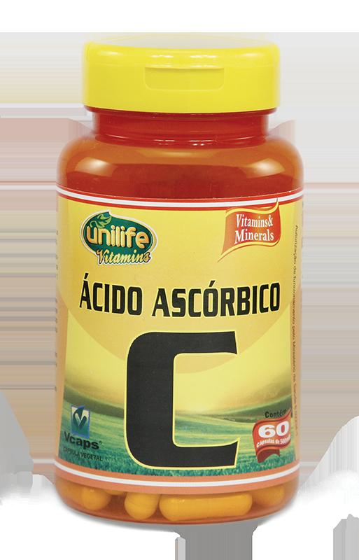 Vitamina C - 60 Cáps 500mg - Ácido Ascórbico - Unilife