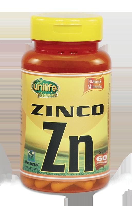 Zinco Zn- 60 Cáps 500mg - Unilife