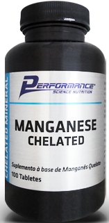 Manganese Chelated - 100 Cápsulas - Performance Nutrition