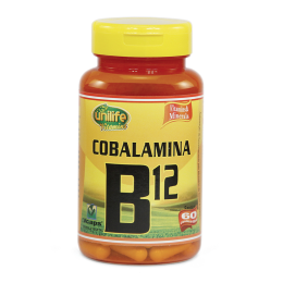 Vitamina B12 - 60 Cáps 500mg - Unilife