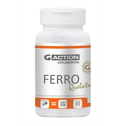 Ferro Quelato - 60 cáps de 14 mg - G-ACTION