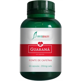 GUARANÁ - 60 cápsulas com 250mg- PhytoQuallys