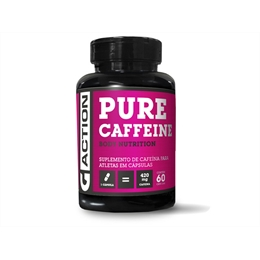 CAFEÍNA PURA  60 cápsulas  420 mg Gaction