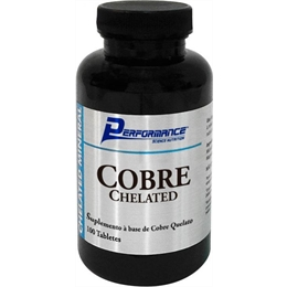 Cobre Chelated - 100 Tabletes - Performance Nutrition - Cobre