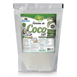 Farinha de coco light - Unilife - 500g - Farinha de coco light