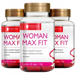 Kit 3X Woman Max Fit 60 capsulas - Upnutri