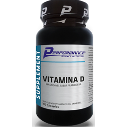 Vitamina D - 100 Tabletes- Performance Nutrition (validade 12/2018)